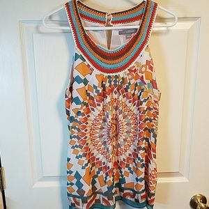 NY Collection Colorful Top Size L